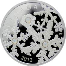Stříbrná mince Sněhová vločka Bouře Opál 2012 Proof (.9999)