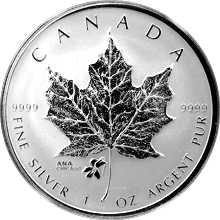 Stříbrná mince Maple Leaf 1 Oz ANA Privy Mark 2015 Proof (.9999)