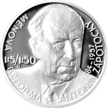 Stříbrná medaile Českoslovenští prezidenti - Antonín Zápotocký 2016 Proof