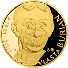 Zlatá půluncová medaile Vlasta Burian 2016 Proof