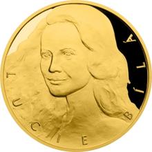 Zlatá půluncová medaile Lucie Bílá 2016 Proof