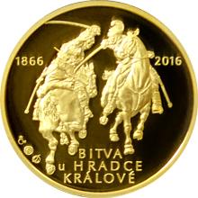 Zlatá půluncová medaile Bitva u Hradce Králové 2016 Proof