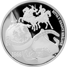 Strieborná medaila Dejiny válečníctva - Bitva u Hradce Králové 2016 Proof