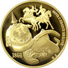 Zlatá uncová medaile Dějiny válečnictví - Bitva u Hradce Králové 2016 Proof