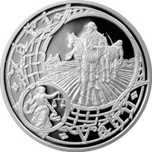 Postříbřená medaile Staroměstský orloj - Váhy 2016 Proof