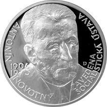 Stříbrná medaile Českoslovenští prezidenti - Antonín Novotný 2016 Proof