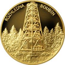 Zlatá uncová medaile Rozhledna Boubín 2016 Proof