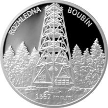 Stříbrná medaile Rozhledna Boubín 2016 Proof