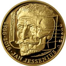 Zlatá půluncová medaile Jan Jessenius 2016 Proof