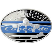 Stříbrná kolorovaná mince 1 NZD 40 let Concordu 2016 Proof
