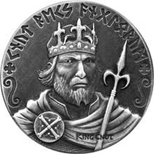 Stříbrná mince 2 Oz Knut Veliký Viking Series 2015 Antique Standard