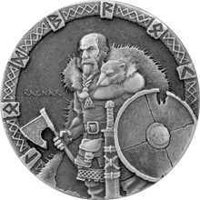 Stříbrná mince 2 Oz Ragnar Viking Series 2015 Antique Standard