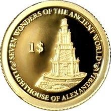 Zlatá mince Maják na ostrově Faru 0.5g Miniatura 2013 Proof