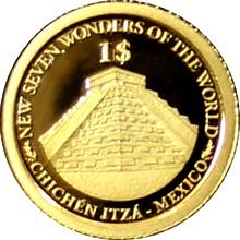 Zlatá mince Chichén Itzá 0.5g Miniatura 2013 Proof