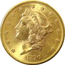 Zlatá mince American Double Eagle Liberty Head 1896