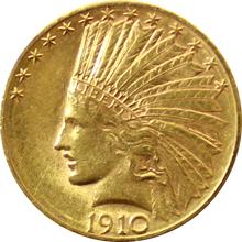 Zlatá mince Indian Head American Eagle 1910