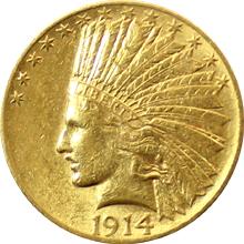 Zlatá mince Indian Head American Eagle 1914