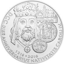 Stříbrná kilogramová mince 100 NZD 700. výročí narození Karla IV. 2016 Standard