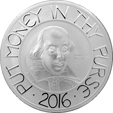Stříbrná mince 5 Oz William Shakespeare 2016 Proof