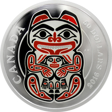 Stříbrná mince 5 Oz Medvěd Mythical Realms of the Haida 2016 Proof (.9999)