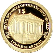 Zlatá mince Artemidin chrám v Efesu 0.5g Miniatura 2013 Proof