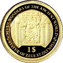Zlatá mince Feidiův Zeus v Olympii 0.5g Miniatura 2013 Proof