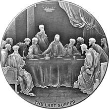 Stříbrná mince 2 Oz Poslední večeře Biblical Series 2016 Antique Standard