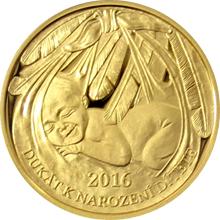 Zlatý dukát k narození dítěte 2016 Proof