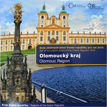 Sada obežných mincí 2016 Olomoucký kraj Štandard