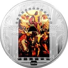 Stříbrná mince 3 Oz Zmrtvýchvstání Krista Jacopo Tintoretto 2016 Krystaly Proof