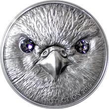 Stříbrná mince Raroh velký 1 Oz Wildlife Protection 2016 Antique Standard