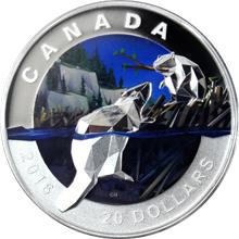 Stříbrná mince Bobr 1 Oz Geometry in Art 2016 Proof (.9999)