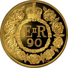 Zlatá mince 5 Oz Královna Alžběta II. 90. výročí narození 2016 Proof