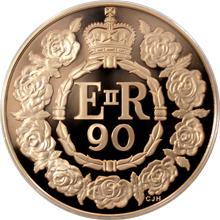 Zlatá mince Královna Alžběta II. 90. výročí narození 2016 Proof