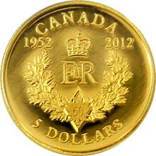 Zlatá minca Kráľovna Alžbeta II. Diamantové výročie 2012 Proof