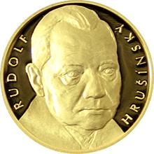 Zlatá čtvrtuncová medaile Hvězdy stříbrného plátna - Rudolf Hrušínský 2016 Proof