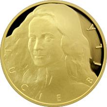 Zlatá půluncová medaile Lucie Bílá 2016 Číslováno Proof