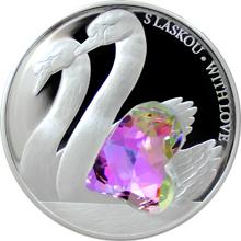 Stříbrná mince 5 NZD Crystal Coin - S láskou 2016 Proof