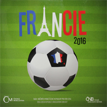 Sada obežných mincí Futbal - Francie 2016 Štandart