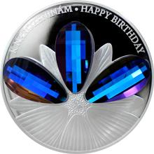 Stříbrná mince 5 NZD Crystal Coin - K narozeninám 2016 Proof