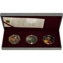 Ounce of Art Rembrandt Sada stříbrných pozlacených mincí 2015 Proof