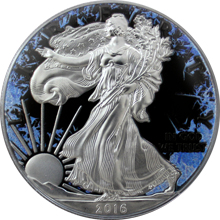 Stříbrná mince American Eagle 1 Oz Deep Frozen Edition 2016 Proof