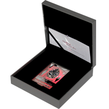 Strieborná minca Luxury Line Ružové osvietenie 2013 Krystal Proof