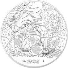 Stříbrná mince Mistrovství Evropy ve fotbale Francie 2016 Standard