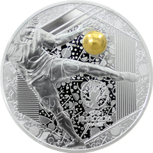 Stříbrná mince Mistrovství Evropy ve fotbale Francie - Výstřel 2016 Proof