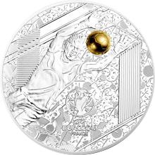 Stříbrná mince Mistrovství Evropy ve fotbale Francie - Brankář 2016 Proof