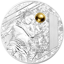 Stříbrná mince Mistrovství Evropy ve fotbale Francie - Hlavička 2016 Proof