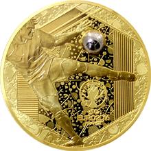 Zlatá mince Mistrovství Evropy ve fotbale Francie 1 Oz 2016 Proof