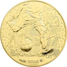 Zlatá mince Mistrovství Evropy ve fotbale Francie 2016 Proof