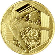 Zlatá minca Mistrovství Evropy ve fotbale Francie 0.5 g Miniatura 2016 Proof
